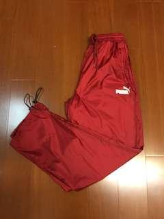 (Size L) Puma 復古紅色風褲
