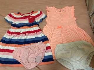 Carter's夏日裙款2條