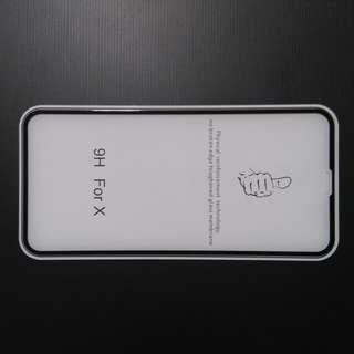 iphone X 全屏 9H 玻璃貼 (最後100張)