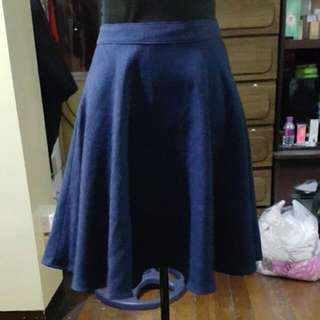 Cecil Mcbee Knee Length Linen Skater Skirt With Lining