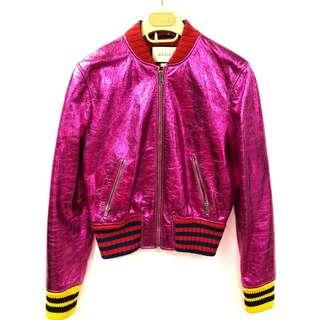 Gucci sharp metallic pink jacket size 38