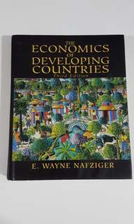 The Economics of Developing Countries (3rd. Ed) by E. Wayne Nafziger [Hardcover]