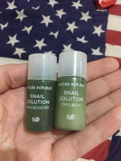 Nature republic snail solution skin booster & emulsion sample size