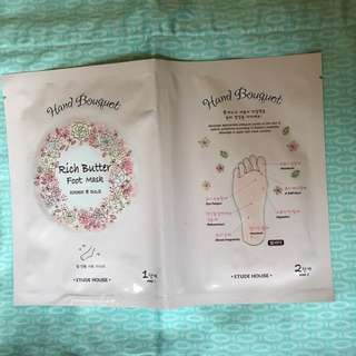 Etude house foot mask 腳膜