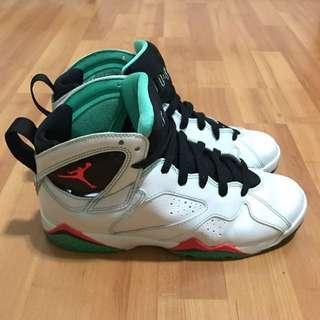 1d0fab0dc53 Nike Air Jordan 7 Retro 30th GG Pearl White Neon orange Green Leather  Sneakers