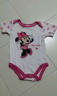 Minnie Mouse pink white Romper