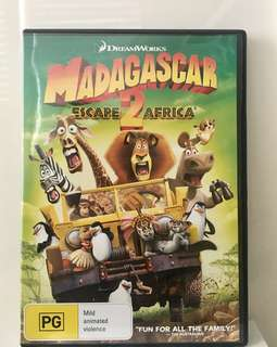 Madagascar 2 Original DVD(used once)