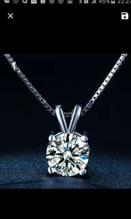 Original 925 silver crystals from Swarovski pendant necklace wedding / engagement.