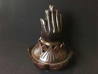木製香座爐越南 Vietnam wooden incense holder parying hands