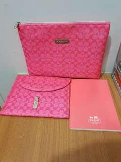 Pink Coach Stationery Set