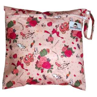 Multipurpose Single Zip with snap button Wetbag - Fairytale