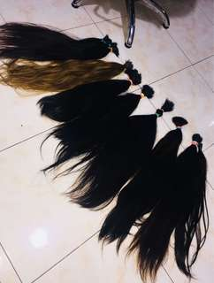 New arrival hair extensions( per bundle) available inches 18-32 just pm. Ms. Kazandra Nava on facebook or text #09216996444
