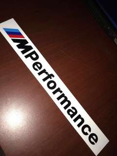 M performance sticker