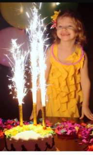Sparkles special birthday candles