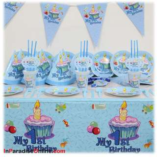 My 1st Birthday Baby Girl & Baby Boy Party Banners