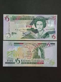 East Carribean Antigua & Barbuda 5 Dollars 🇦🇬 !!!
