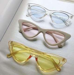 Cat Eye Clear Lens Sunglasses / Sunnies