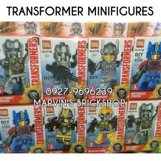 Restock Transformer Minifigures 6 Different Characters Plus 2 Random Extras