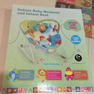 Deluxe Baby Bouncer and Infant Seat