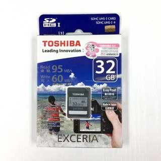 全新行貨 TOSHIBA EXCERIA SDHC 32GB SD卡 Class10 SD Card 記憶卡