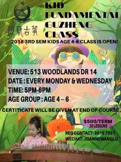 💟kids Guzheng course 2018 term 3 registration starts now !