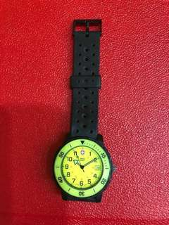 Sharing only Swiss Army watch Andre Agassi Yellow dial