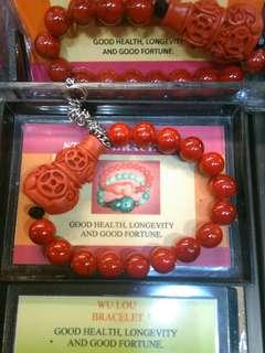 Lucky charm bracelet stone..