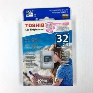 全新行貨 TOSHIBA Exceria 32GB MicroSDHC U3 R95W60 32GB MicroSD 記憶卡