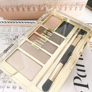 💚 Milani Eyeshadow Palette • 01 Must Have Naturals • everyday eyes nude brown shades with brush • shiny gold case