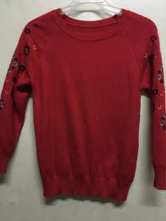 Red Knitted Longsleeve