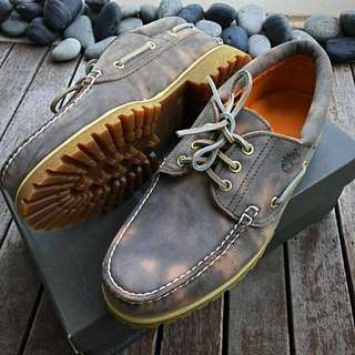 Rare! Timberland Premium Leather Boat Shoes
