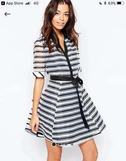 Brand new Skater skirt dress in stripe