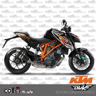 KTM Duke 1290 fairings coverset sticker 1