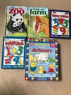 Reduced!! Sales!!! 2-4 years old hard cover books
