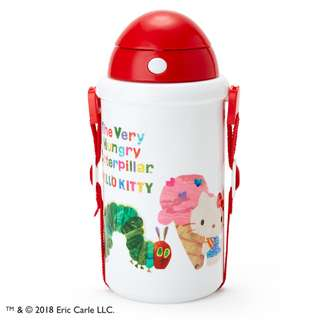 [PO] Sanrio Hello Kitty x The Very Hungry Caterpillar Insulated Straw Bottle (Sweet) 510ml