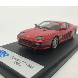 全新絕版 1:43 BBR Model Ferrari F512M 1994 Red BBR72A