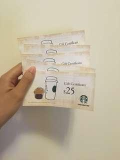 Starbucks $25 voucher