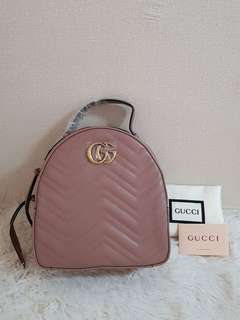 Gucci Marmont Marbled Leather Backpack