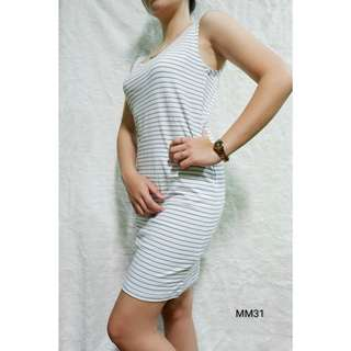 F21 Blue Stripes Dress. When worn.