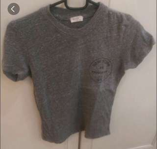 Brandy Melville Grey Speckled Graphic New York 44 Prince Street Mason Tee