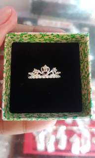92.5 Sterling Silver Queen Mary Tiara Ring