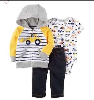 *18M* BN Carter's 3-Piece Little Jacket Set For Baby Boy