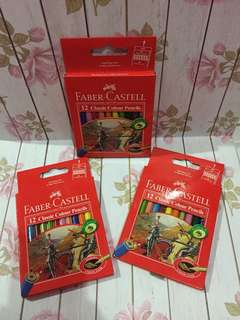 Flash sale pensil warna 12 buah faber castell ori
