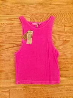 American Eagle Crop Ribbed Tank
