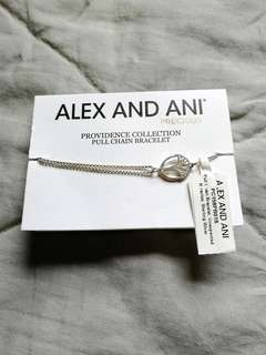 Alex and Ani Sterling Silver Pull Chain Bracelet