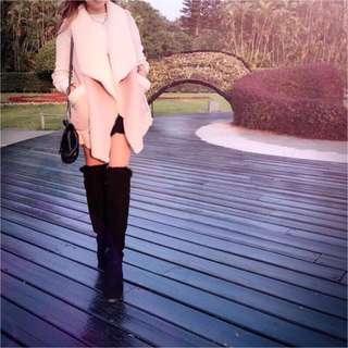 🚚 韓國 軟綿綿 保暖 羔羊毛 麂皮 翻領 背心 外套 口袋 網美 女神