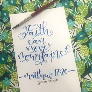 Handwritten calligraphy quotes on cards!