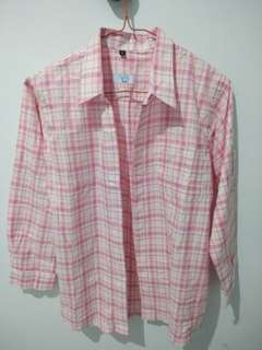 REPRICE Pink Flannel Outer
