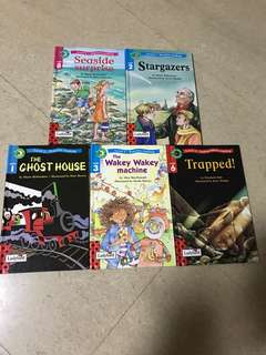 Ladybird books (different levels from improve reading to independent reading)