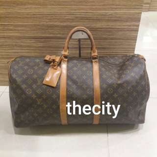 AUTHENTIC LOUIS VUITTON KEEPALL 55 - MONOGRAM CANVAS